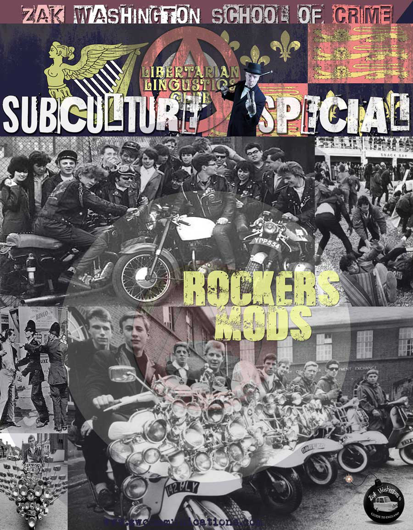 Photos of British culture - montage of photos of Mods and Rockers