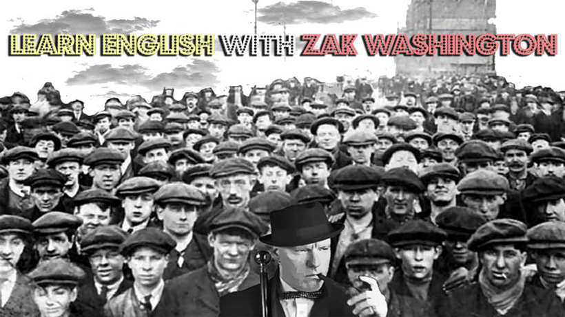 Language Unlimited and Learn English with Zak Washington logo from full free online English course