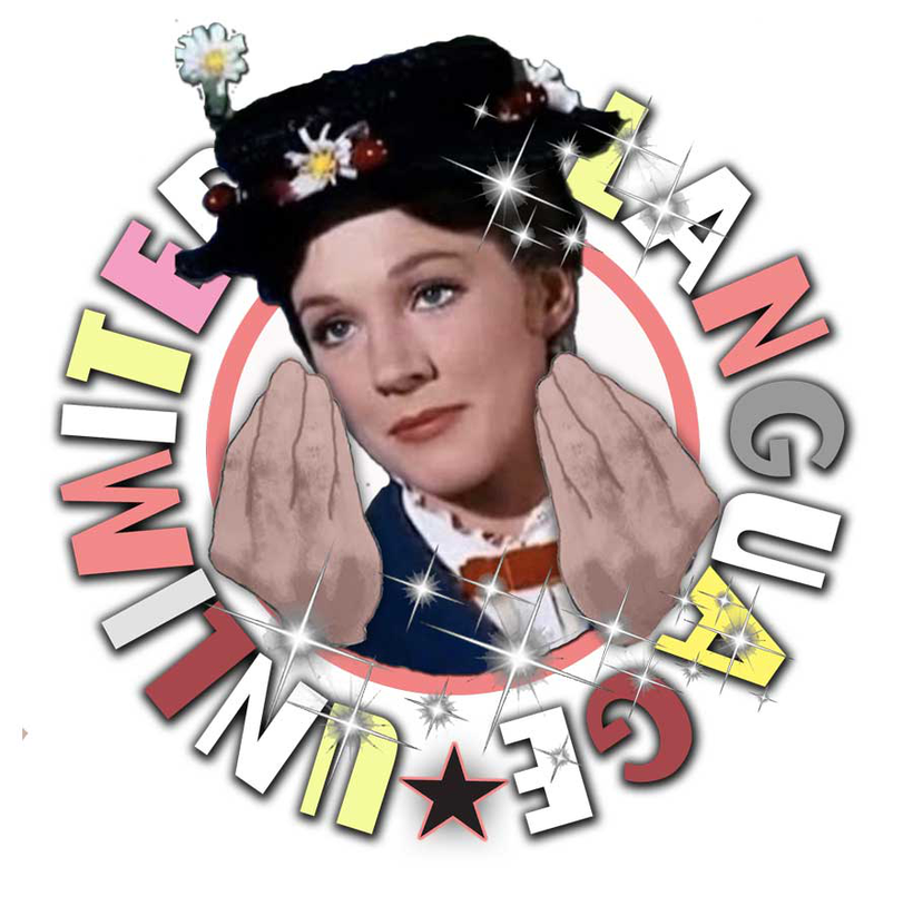 Language Unlimited logo with Mary Poppins