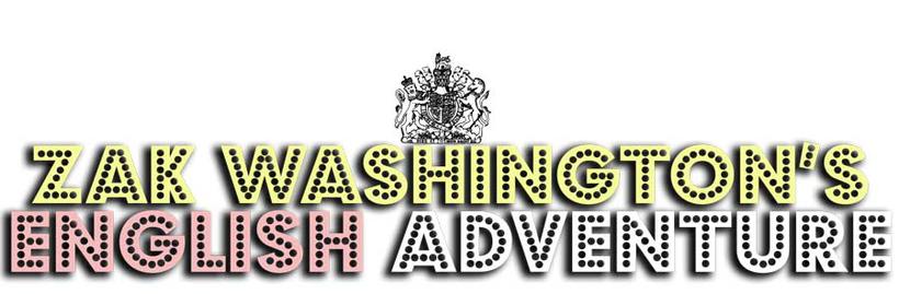 Zak Washington's English Adventure story - English language learning programme - Title graphic.