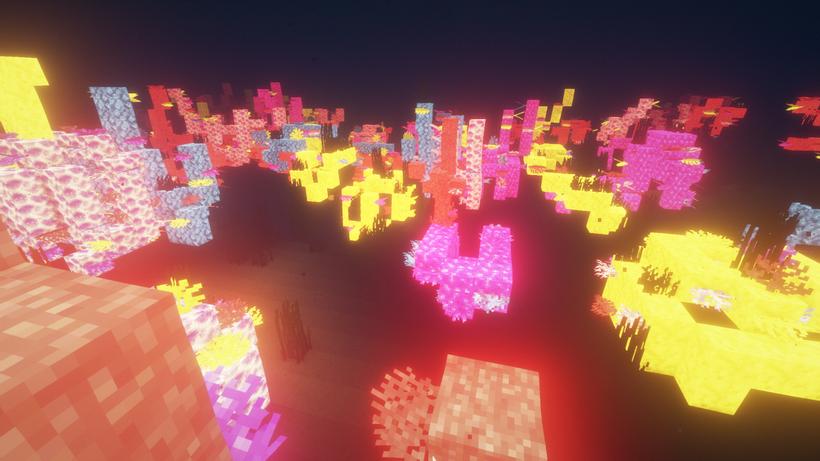 Emissive Textures Coral Reef Minecraft