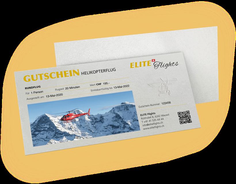 Elite Flights, Gutschein Rundflug, Helikopterflug, Helikopterrundflug, Luzern-Beromünster