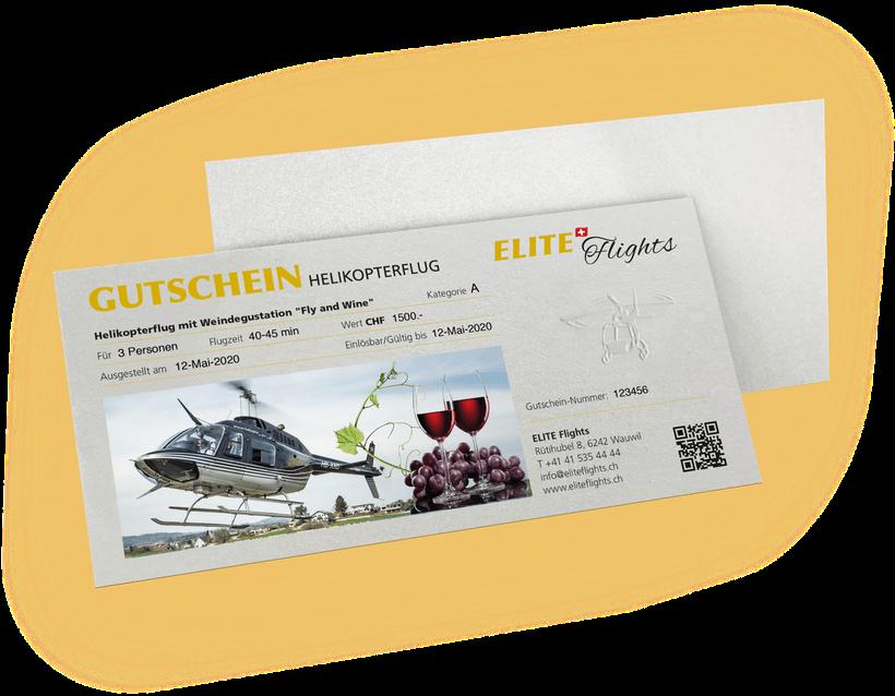 Elite Flights, Gutschein Fly and Wine, Helikopterflug mit Weindegustation Helikopterflug, Helikopterrundflug, Rundflug, Luzern-Beromünster