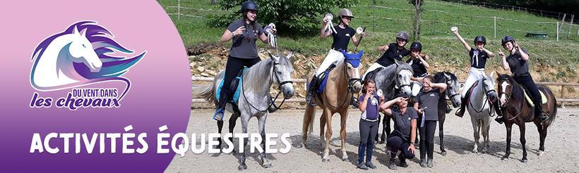 Les activités équestre proposées au poney-club Du vent dans les chevaux