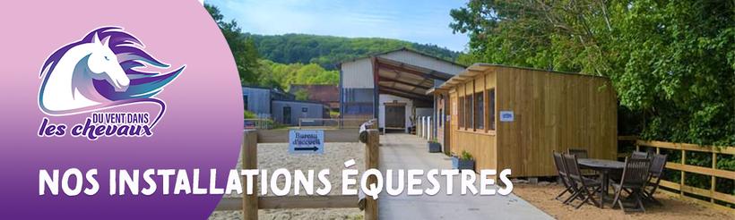 Les installations du poney-club Du vent dans les chevaux à Senailly en Côte-d'Or