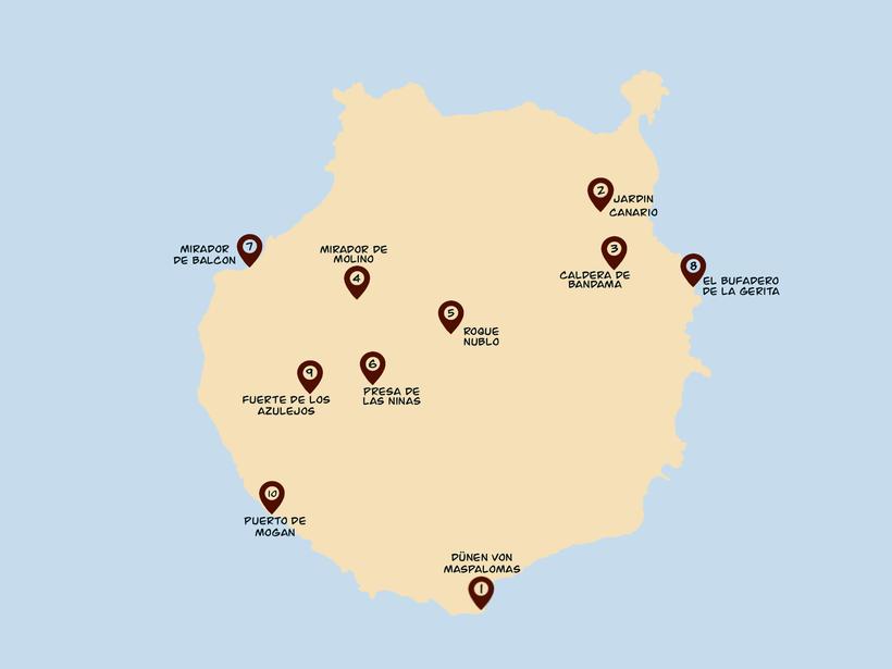 Gran Canaria Schönste Orte Karte