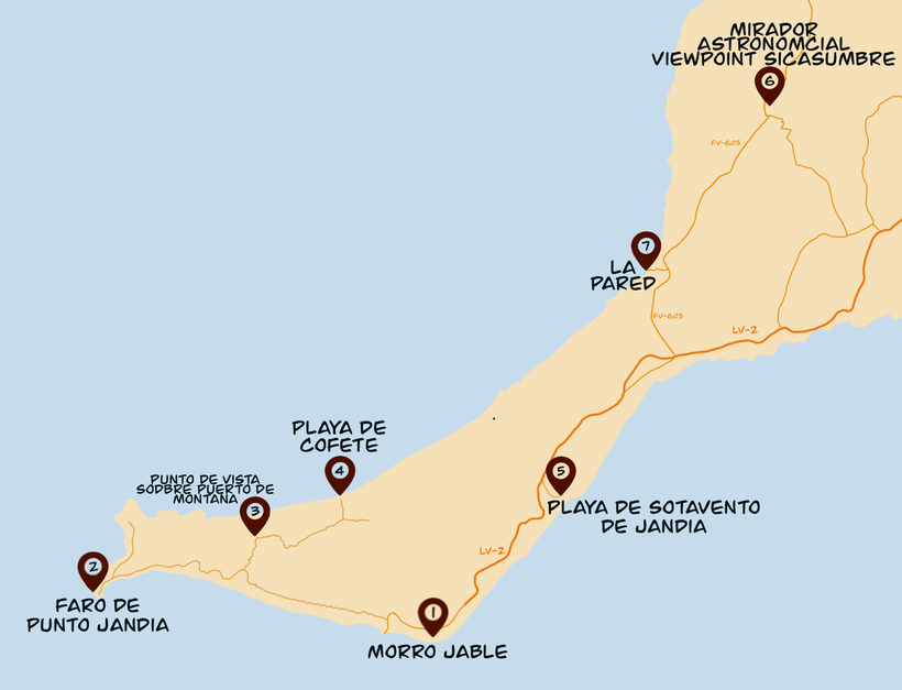 Fuerteventura Jandia Karte