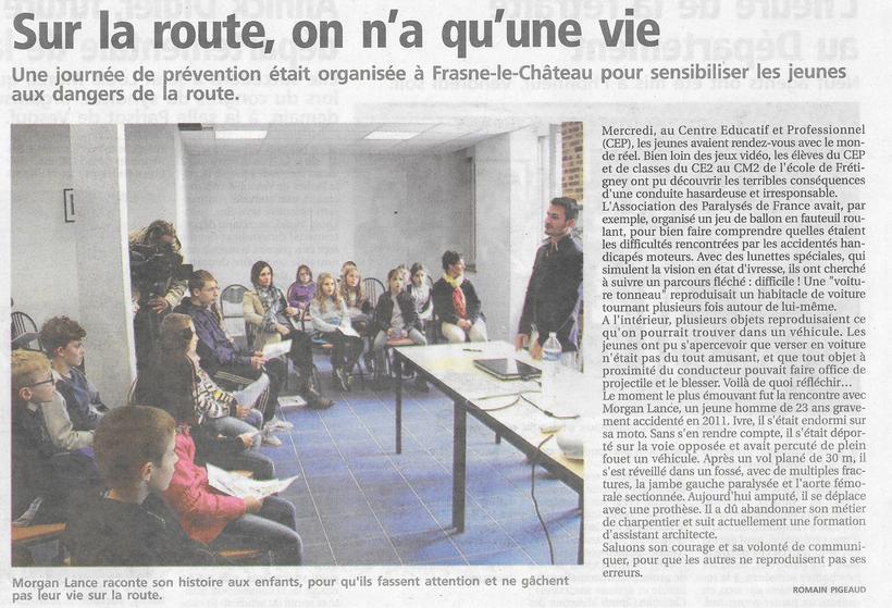 La Presse de Vesoul 2/06/2016