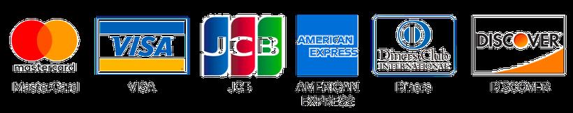 可能なクレジット支払い|MasterCard/VISA/JCB/AMERICANEXPRESS/Diners/DISCOVERY|株式会社廣澤