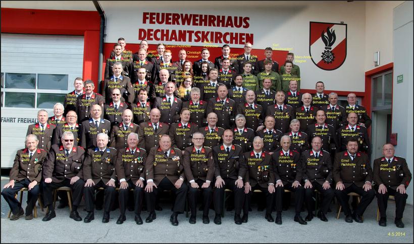 Gruppenbild der FF Dechantskirchen (Stand: 2014)