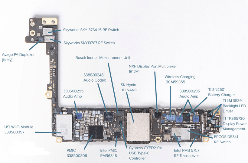 Phone 8 board schematics
