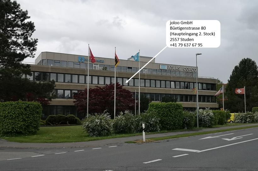 joloo GmbH Firmenstandort, Buetigenstrasse 80,  2557 Studen