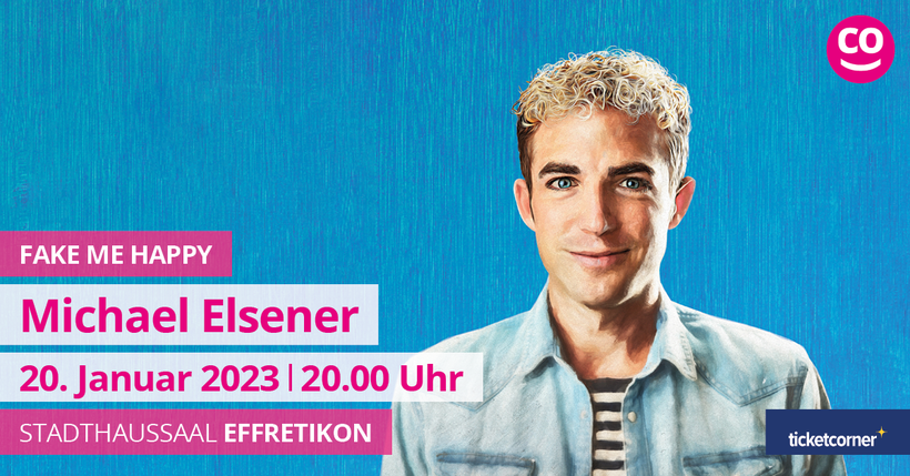 Michael Elsener mit FAKE ME HAPPY