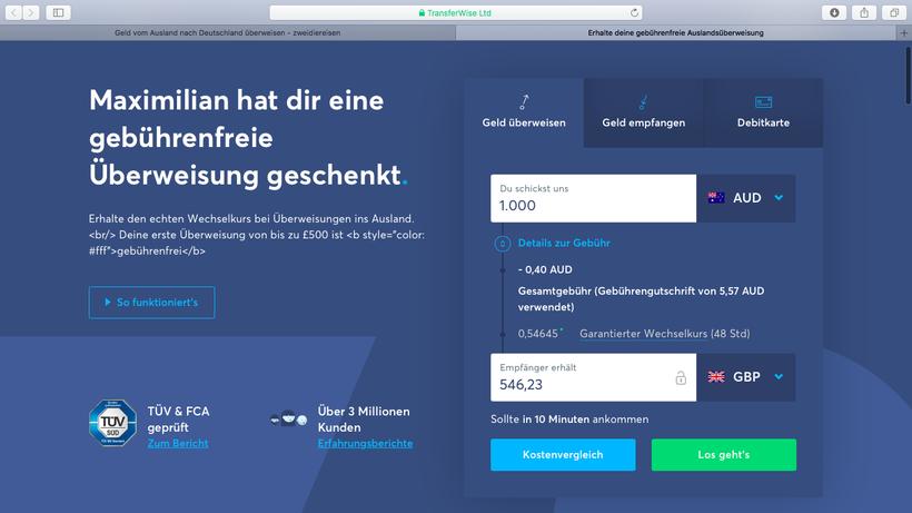 Vom Ausland nach Deutschland Geld überweisen