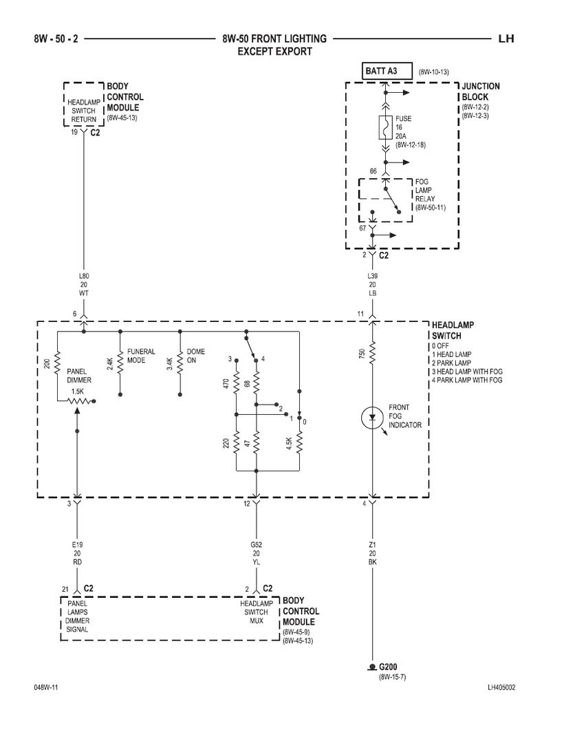 Chrysler 300m  Concorde  Interpid  Lhs Wiring Diagrams