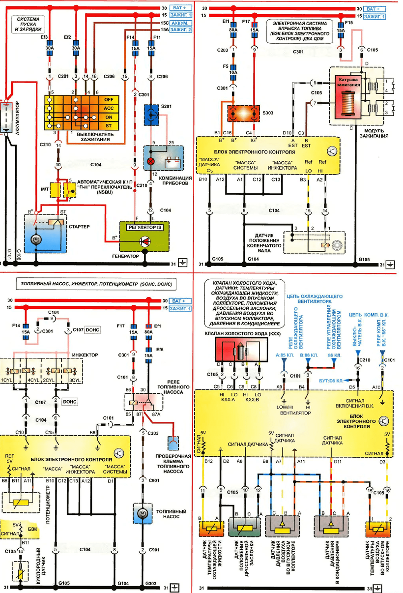 DAEWOO Lanos Wiring Diagrams - Car Electrical Wiring Diagram