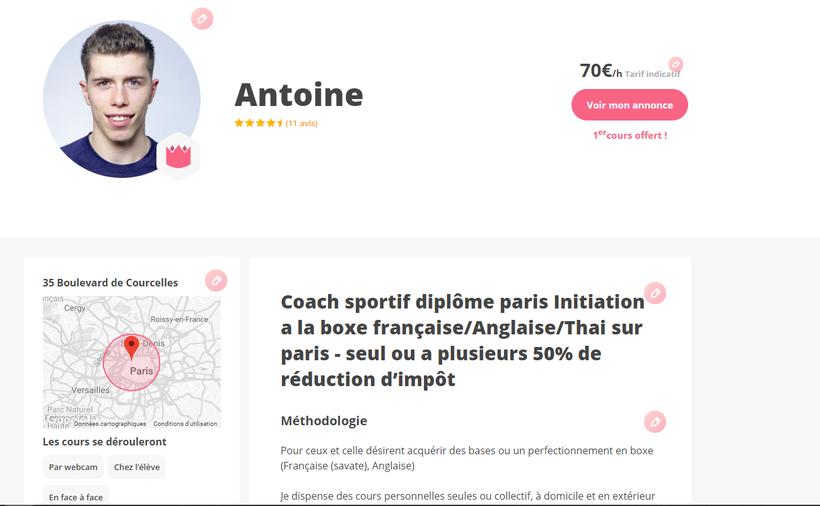 Antoine legris super coach paris pas cher