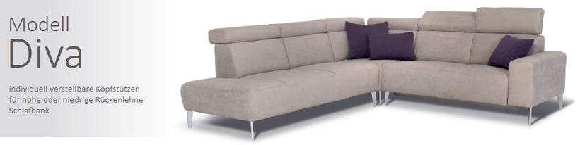 SEDDA Diva - Topsofa Möbel zu Spitzenpreisen