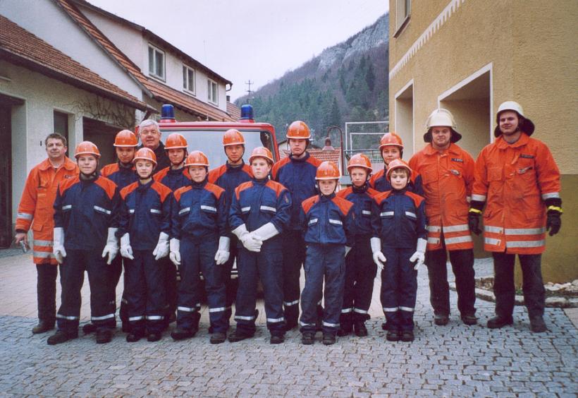 Die Jugendfeuerwehr im Gründungsjahr 2004