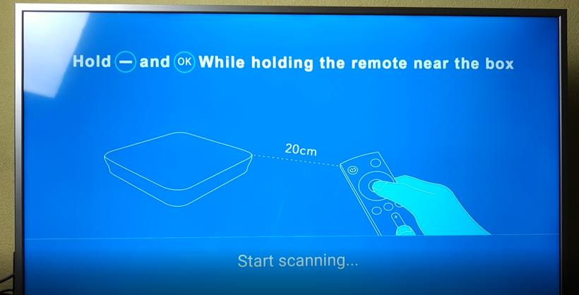 Synchronisation télécommande Mecool M8S Pro L