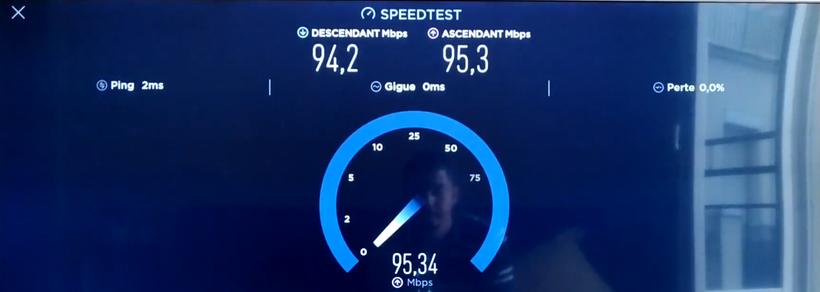 Débit internet M8S Pro L