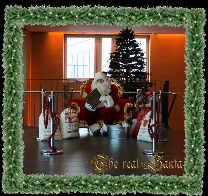Weihnachtsmann mit Thronsessel