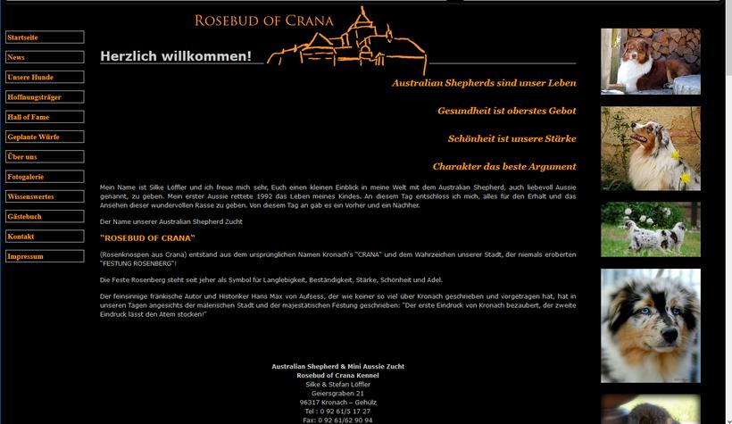 Das neue Kleid der Homepage Australian-Shehpherds - Rosebud of Crana