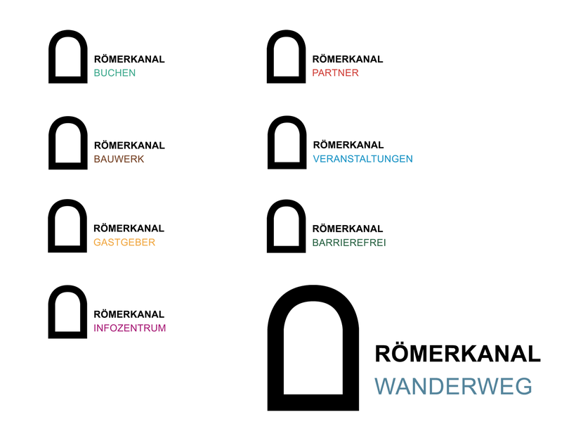 Logo Römerkanal Wanderweg | Logofamilie | www.roemerkanal.de