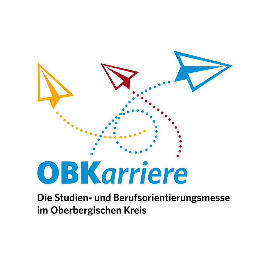 Logo OBKarriere | Key Visual für eine Studien- und Berufsorientierungsmesse im Oberbergischen Kreis