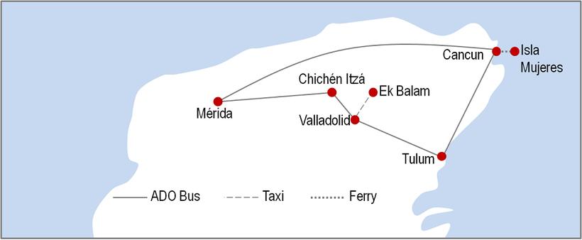 Itinerary Yucatan 7 days
