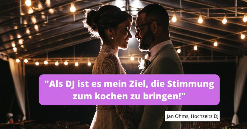 von Brautpaaren empfohlen, DJ Jan Hann. Münden