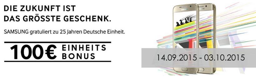 mobilcom-debitel Hohenstein-Ernstthal Samsung Galaxy S6 und S6 edge 100€ Cashback Aktion bis 03.10.2015