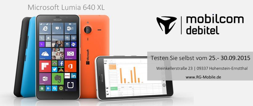 mobilcom-debitel Hohenstein-Ernstthal Live-Test des Lumia 640 XL zum Jahrmarkt 2015