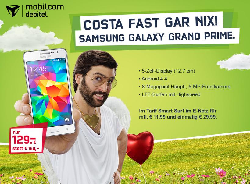 Samsung Galaxy Grand Prime mobilcom-debitel Smart Surf Tarif