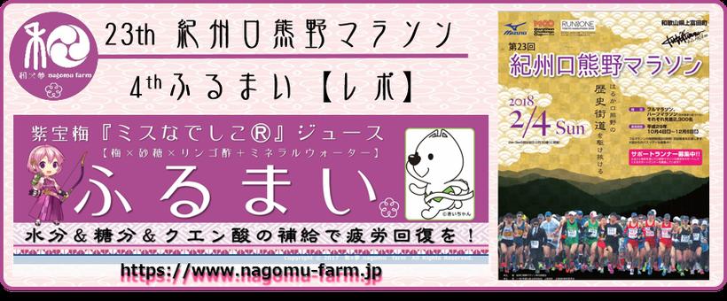 23th 紀州口熊野マラソン【レポ】 和×夢 nagomu farm