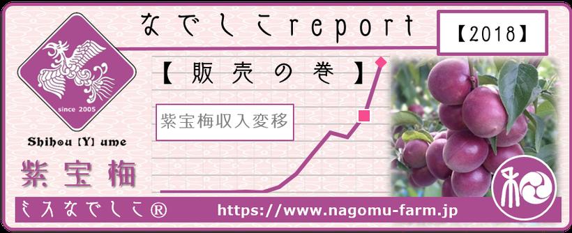 なでしこ report 【販売の巻】2018 和×夢 nagomu farm  紫宝梅『ミスなでしこⓇ』