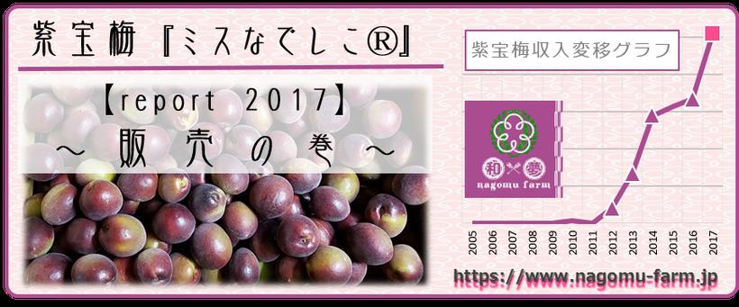 なでしこ report 2017 【販売の巻】 和×夢 nagomu farm  紫宝梅『ミスなでしこⓇ』