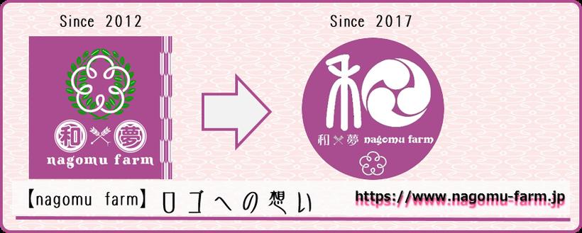 ロゴへの想い 和×夢 nagomu farm
