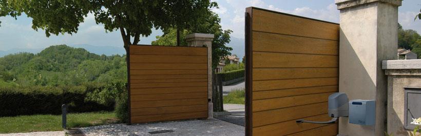 Domotique : L'entreprise d'électricité BATTAGLIA cherche a équiper efficacement les foyers disposant d'une entrée sécurisée avec un portail par un automatisme pour les portes de garage, les portails à battant, les portails coulissants.