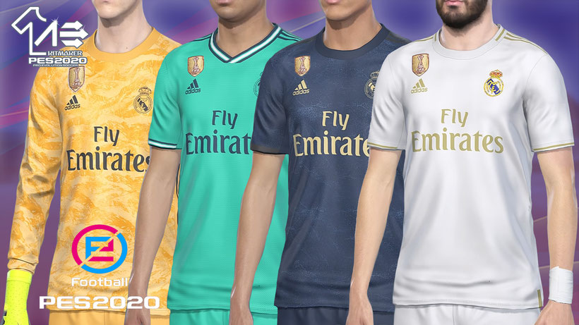 Real Madrid 2019-20 PNG Files PES 2019 PC