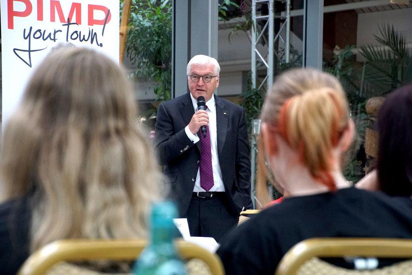 Bundespräsident Steinmeier bei Pimp Your Town! in Wiesmoor