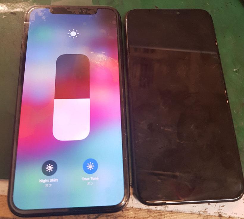 TrueTone機能も使える純正同等iPhoneXの画面修理