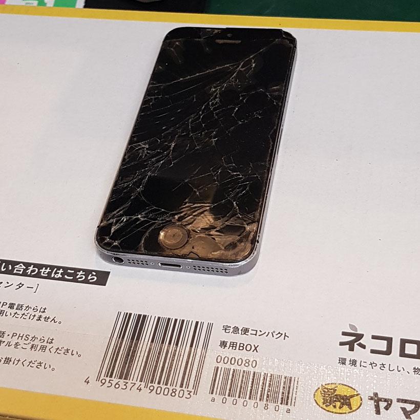 郵送修理依頼のiPhoneSEが宅急便で届きました
