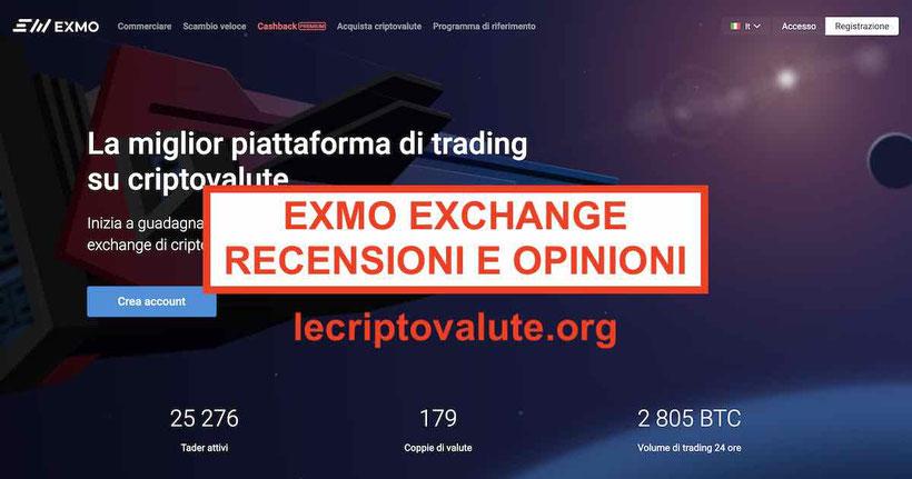 ▷ Exmo exchange recensioni opinioni italiano truffa? Funziona