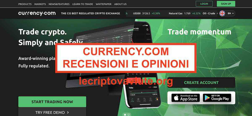 Currency.com recensioni opinioni Exchange titoli token