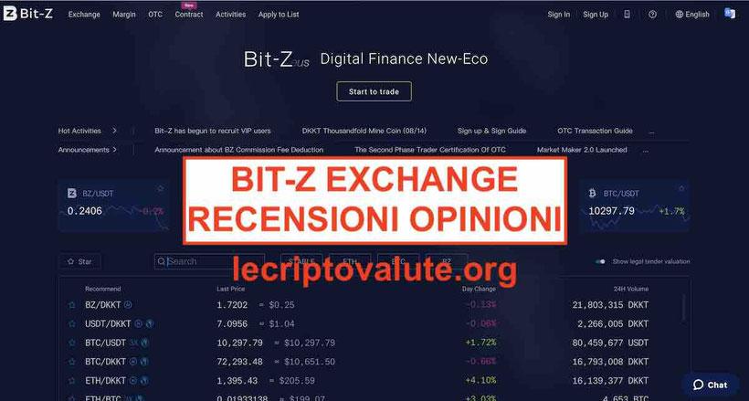 Bit-Z exchange opinioni recensioni truffa o affidabile