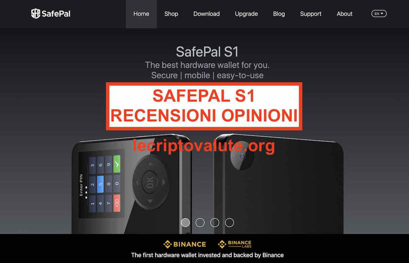 SafePal S1 recensioni opinioni portafoglio [2020] Binance Labs