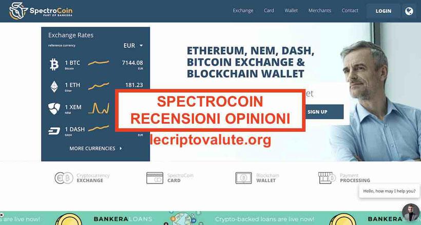 SpectroCoin recensioni opinioni funziona o truffa