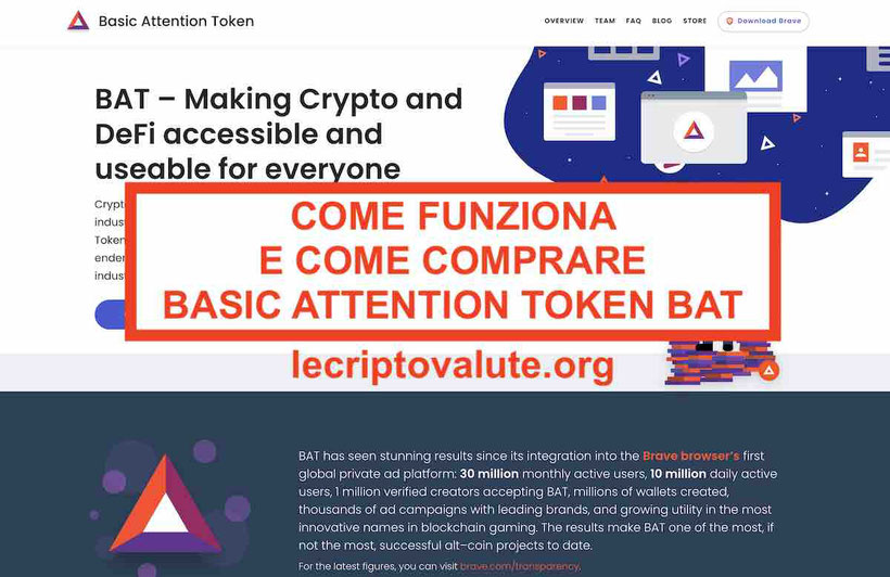 Dove e come comprare Basic Attention Token BAT
