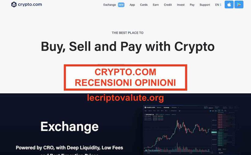 Crypto.com recensioni opinioni exchangeTruffa? Alternative?